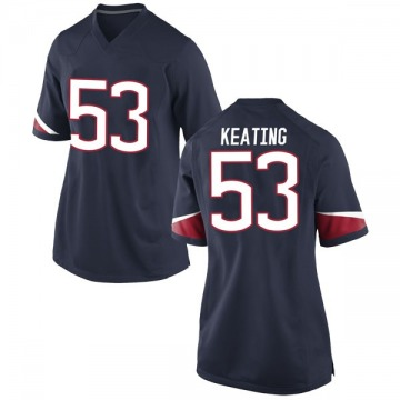 Women's Brian Keating UConn Huskies Nike Replica Navy Football College Jersey