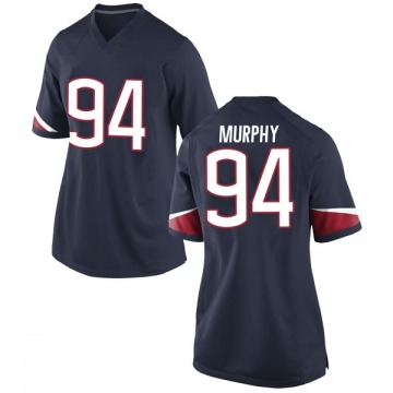 Women's Kevin Murphy UConn Huskies Nike Game Navy Football College Jersey