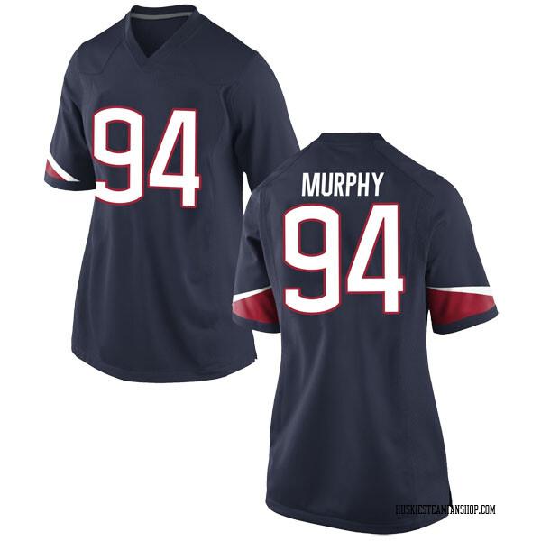 Women's Kevin Murphy UConn Huskies Nike Game Navy Football College Jersey