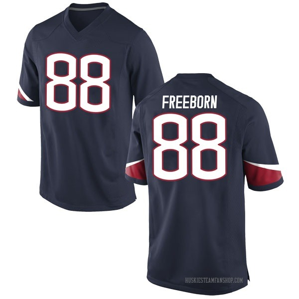 Youth Connor Freeborn UConn Huskies Nike Game Navy Football College Jersey