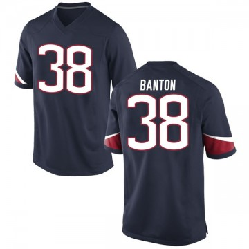 Youth Lavarey Banton UConn Huskies Nike Game Navy Football College Jersey